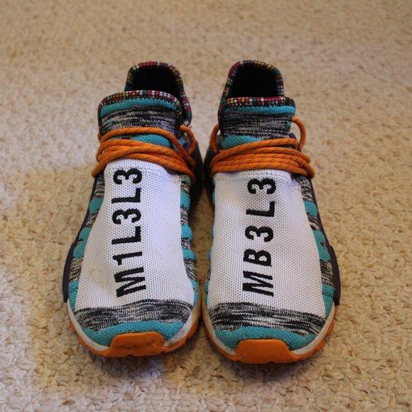 Adidas Shoes Nmd Hu Pharrell Solar Pack Orange Poshmark